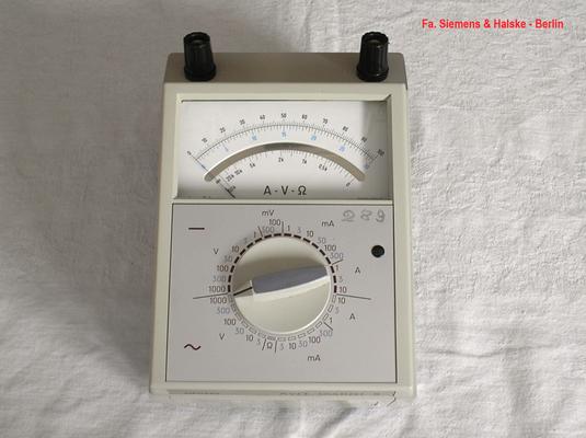 Bild 526 - Fa. Siemens & Halske - Berlin - Multimeter Multizet Typ. S - Fertigungsjahr ca. 1974