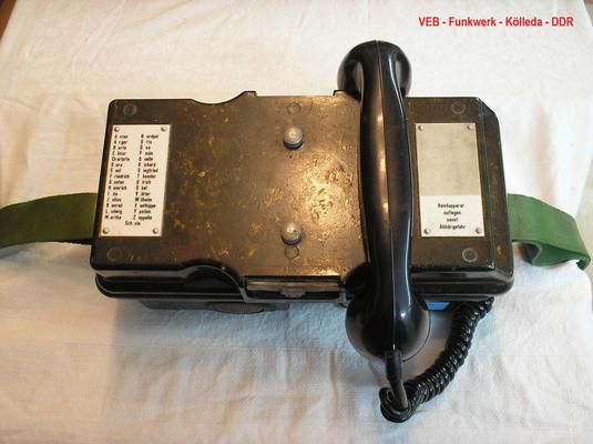 Bild 529 - RFT - Funkwerk Kölleda - DDR - Feldfernsprecher FF 63 M der NVA Truppen - Fertigungsjahr 1975
