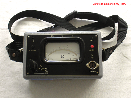 Bild 478 - Christoph Emmerich KG - Ffm. - Kontakt - Übergangswiderstand Prüfgerät - Fertigungsjahr 1961