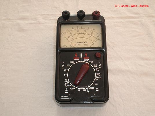 Bild 475 - C.P. Goerz Wien - Austria - Multimeter Hochvolt Typ. Universal - HV - Fertigungsjahr  1955