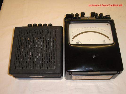 Bild 465 - Fa. Hartmann & Braun Frankfurt - Leistungsmesser Typ. GGt Klasse 0,2 - Fertigungsjahr  1950