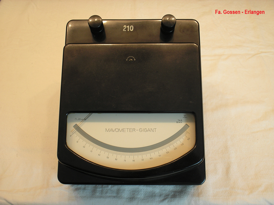 Bild 506 - Fa. Gossen - Erlangen - Labor Messgeräte Mavometer Gigant Typ. 2  mit Vor u. Nebenwiderstände - Fertigungsjahr ca. 1950