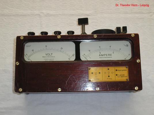 Bild 419 - Dr. Theodor Horn - Leipzig - Doppel Messgerät für Strom u. Spannung AC / DC - Fertigungsjahr ca. 1930