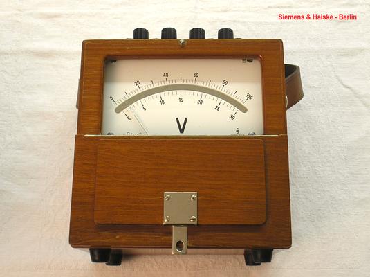 Bild 474 - Siemens & Halske - Berlin - Labor Voltmeter Gleichspannung bis 300,0 Volt - Fertigungsjahr 1962
