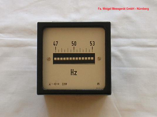 Bild 277 - Fa. Weigel Messgeräte GmbH - Nürnberg -  Zungenfrequensmessgerät.  Fertigungsjahr 1978