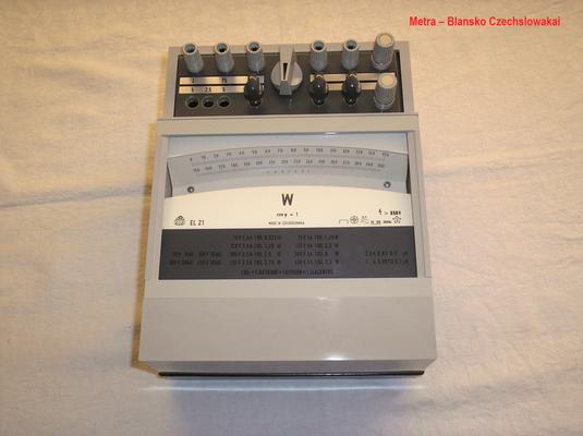Bild 494 - Metra - Blansko - Czechslowakia - Präzisions Leistungsmesser als Spiegel Galvanometer für  Gleich / Wechselstrom Typ. EL 21 - Fertigungsjahr  1994
