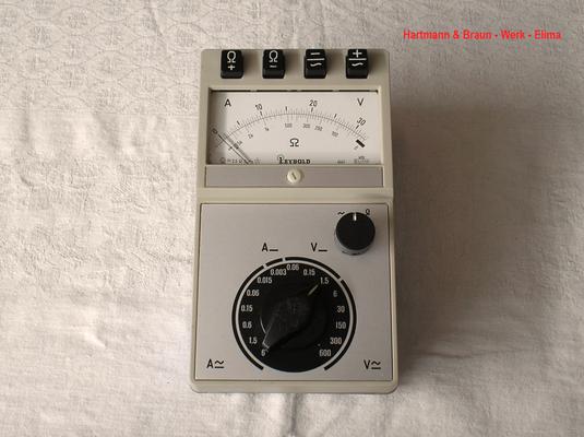 Bild 527 - Fa. Hartmann & Braun Werk - Elima - Schüler Multimeter ( Leybold ) Fertigungsjahr ca. 1975