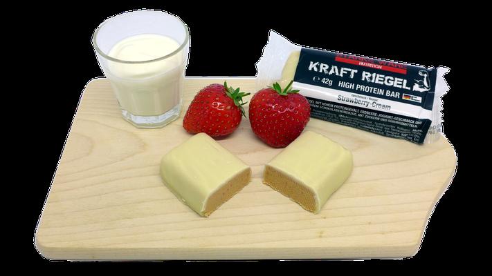 KraftRiegel High Protein Bar Strawberry Cream