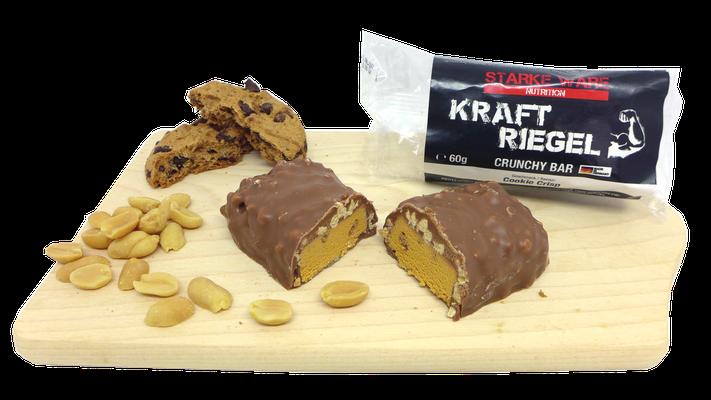 KraftRiegel Crunchy Bar mit Geschmack Cookie Crisps