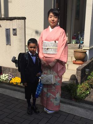 2016.4 小学校入学式にて