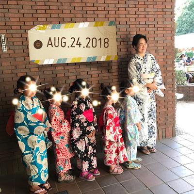 2018.8 夏祭り こどもゆかたファッションショー
