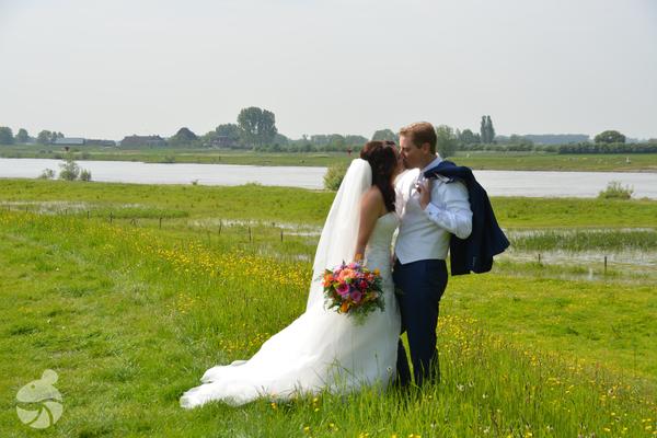 Trouwreportage, bij de IJssel Windesheim, Zwolle