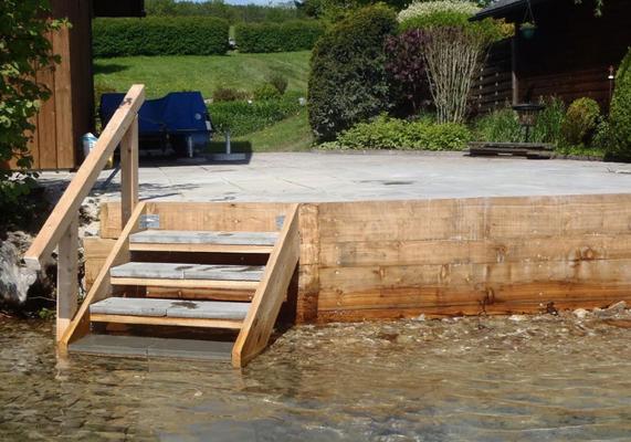Steganlagen Badestege Bootshaus Hafenanlagen Seiringer Zimmerei