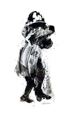 """""""Ink 17"""" (2007) / 36 cm x 20 cm / Encre sur papier / Prix : 4500 €"""