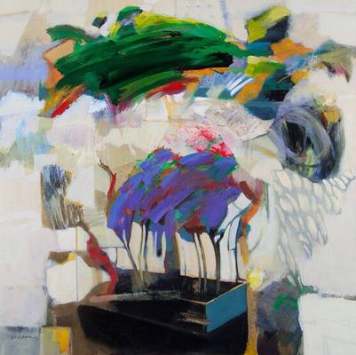 """""""Day By Day"""" (2015) / 91 cm x 91 cm / Acrylique sur toile / Prix : 16 500 €"""