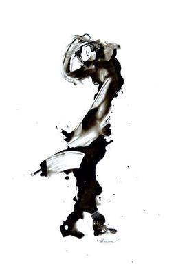 """""""Ink 16"""" (2007) / 36 cm x 20 cm / Encre sur papier / Prix : 5200 €"""