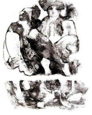 """""""Contradiction"""" (2011) / 76 cm x 61 cm / Encre sur panneau / Prix : 10 900 €"""