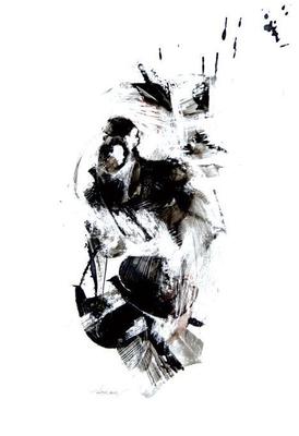 """""""Ink 15"""" (2007) / 36 cm x 20 cm / Encre sur papier / Prix : 5200 €"""
