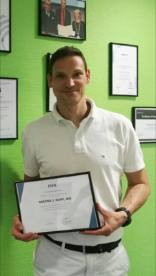 FIFA Diploma in Football Medicine, completed in June 2017