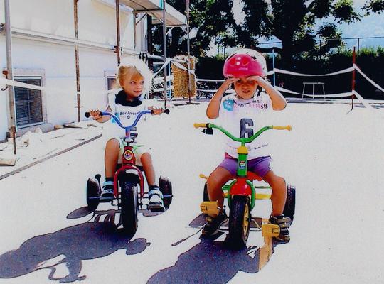 Keiner zu klein, um ein Radfahrer zu sein.
