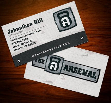 The Arsenal CrossFit Muncie Business Card Design