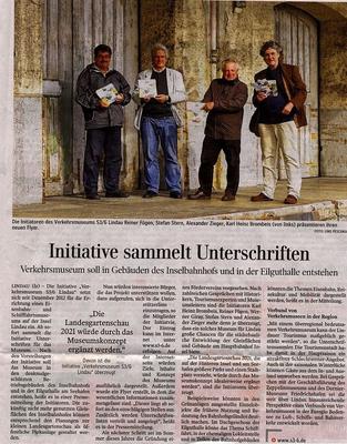 Lindauer Zeitung 15.05.2014:  Vorstellung Flyer, Beginn Sammlung Unterschriften