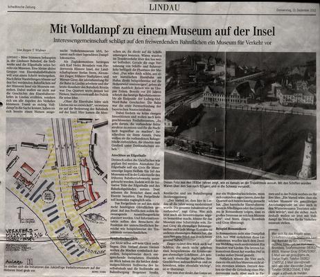 Lindauer Zeitung 13.12.2012: Gründung Initiative, Museums-Konzept