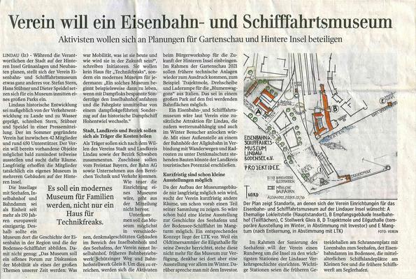 Lindauer Zeitung  16.03.2016: Bürgerbeteiligung der Stadt Lindau zur Entwicklung der Hinteren Insel