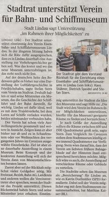 Lindauer Zeitung 24.06.2017: Beschluss Stadtrat 21. Mai 2017