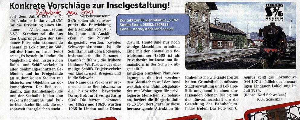 Lindauer Bahnbote Mai 2013