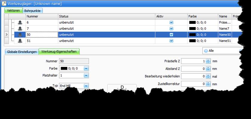CNC Steuerungssoftware - cncGraF - Werkzeugwechsler mit einem Klick