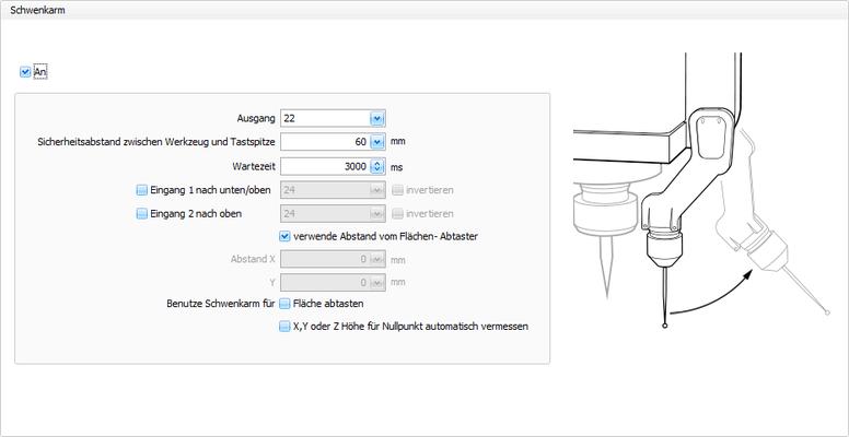 CNC Steuerungssoftware - cncGraF - Schwenkarm