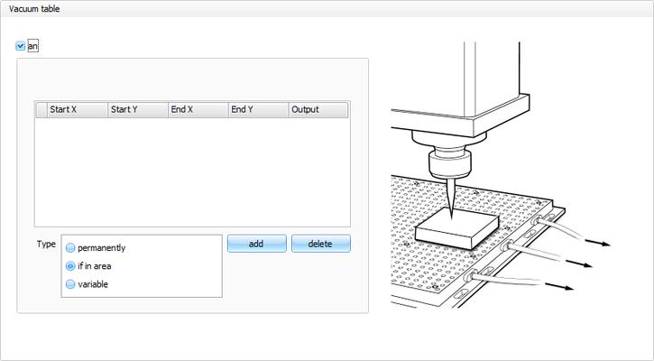 CNC Steuerungssoftware - cncGraF - Fläche abtasten