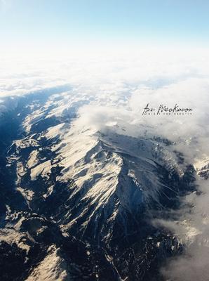 Schweizer Alpen von oben