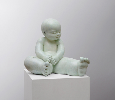 Contemplar          -          bronze         -           40x43x38 cm.