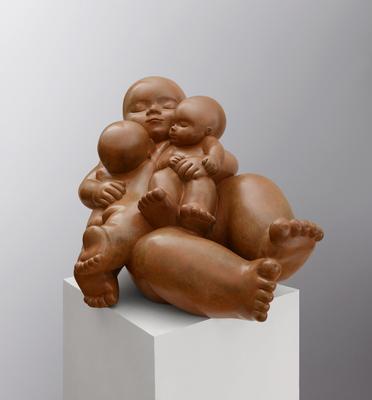 Felicidad          -            bronce          -          48x68x50 cm.