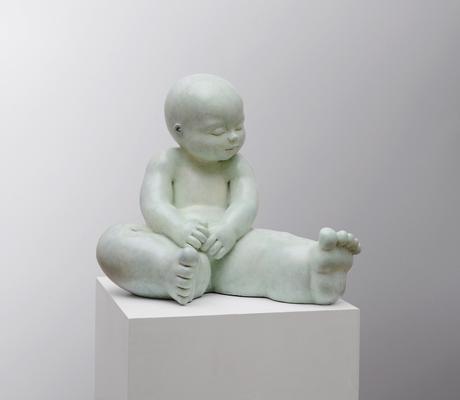 Contemplar          -          bronce         -           40x43x38 cm.