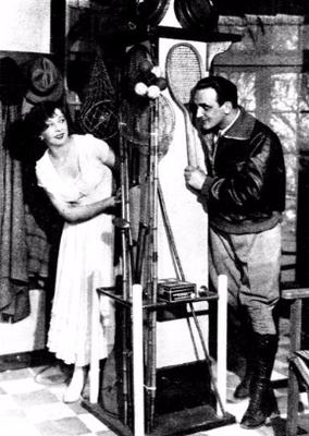 Janina Romanówna i Tadeusz Wesołowski w sztuce  Związek niedobrany ( T.Maly Warszawa 1930 )