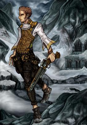 Balthier. Karakter uit FFXII. Paintshop Pro.