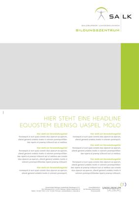 Poster mit Veranstaltungsprogramm