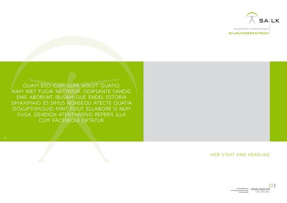 Broschüre A4, Innenseite