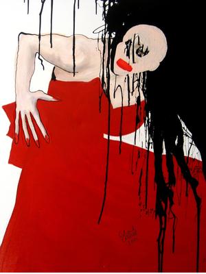 Kassandra, 2011, Lack/Leinwand, 100 x 100 cm
