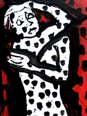 Hiob, 2010, Mischtechnik/Leinwand, ca. 80 x 80 cm