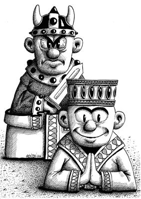 """Illustration für Ausstellung """"Religion und Gewalt"""""""