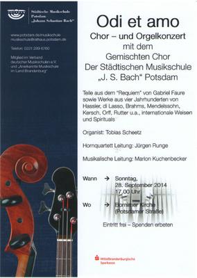 Konzertprogramm 09/2014