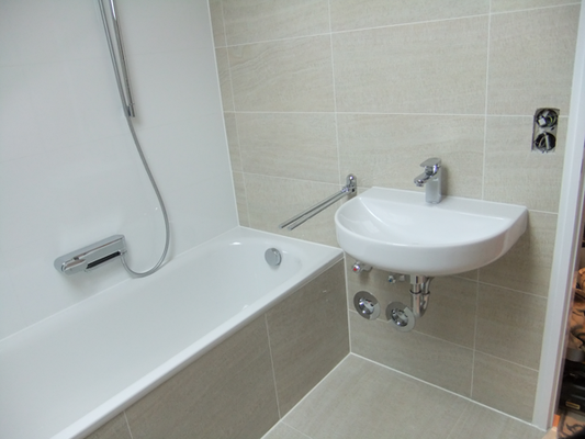 Badewanne, Dusche und Fliesen - alles aus einem Guss
