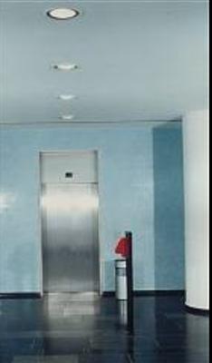 Treppenhaus in der Firmen-CI