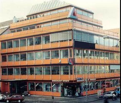 Außenanstrich einer Firmenzentrale in München