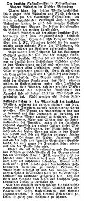 Vorschau auf das Spiel in Kaiserslautern. Foto: Bildarchiv Eric Lindon (NSZ Rheinfront, 25.02.1933)