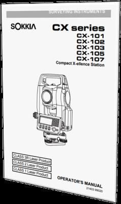 MANUAL DE USUARIO ESTACION TOTAL SOKKIA CX-105